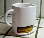 Cup and Cookies - a Cookie Holding Mug